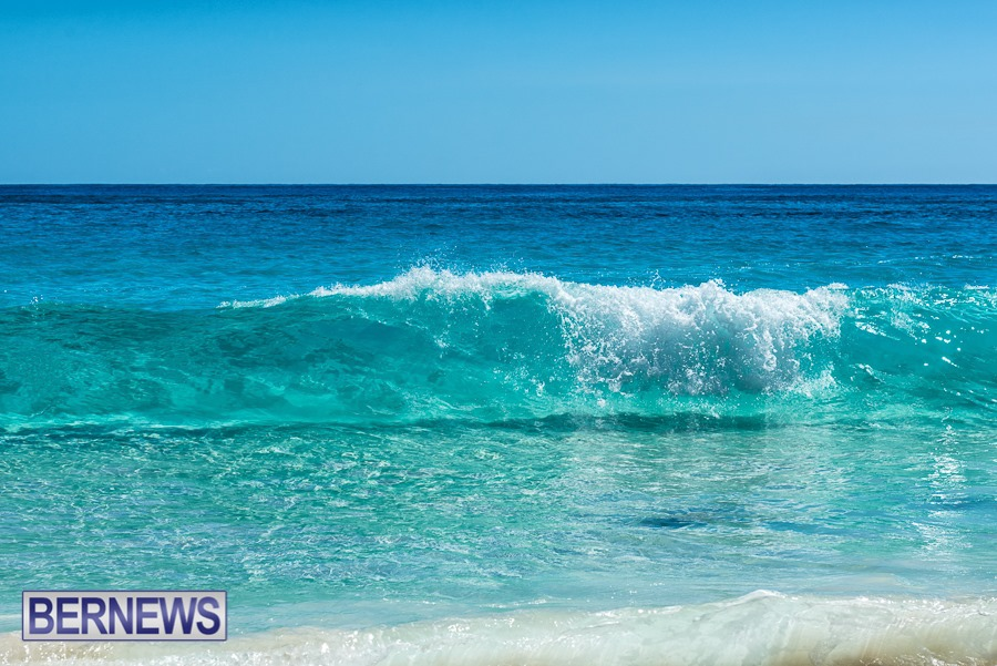 321 - The stunning beauty of Bermuda's clean and clear waters as seen looking through this breaking wave