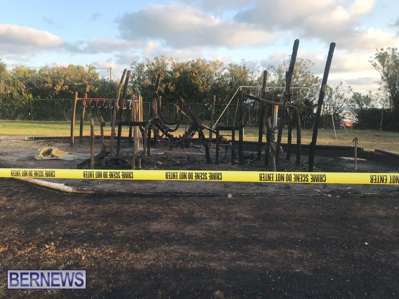 Aftermath of fire at Pigs Field Bermuda April 2021 (1)
