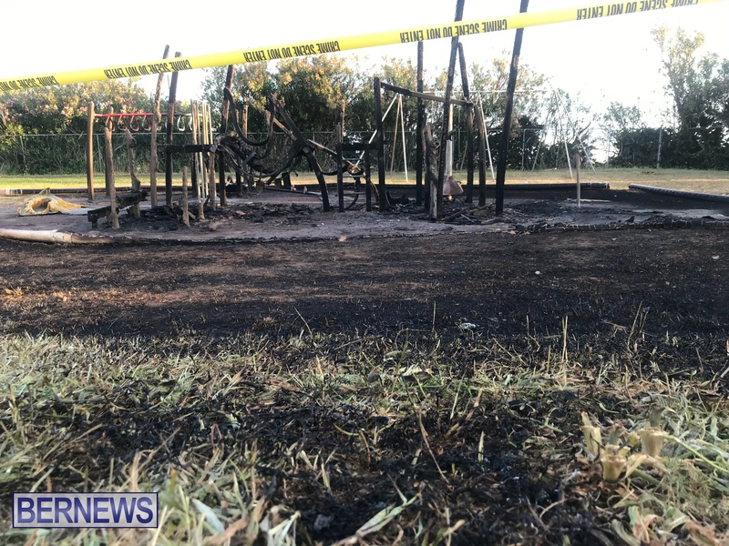 Aftermath of fire at Pigs Field Bermuda April 2021 (2)
