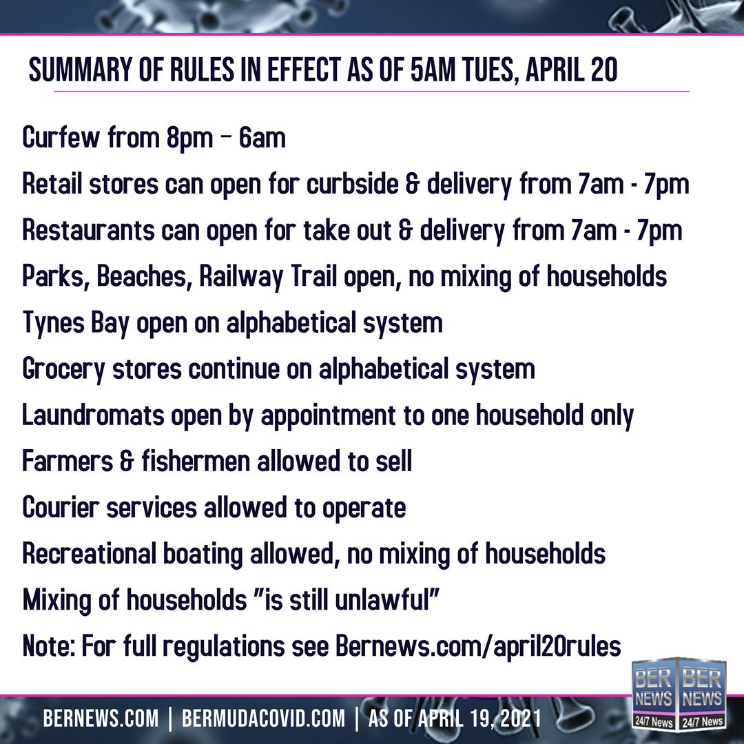 April 19 10pm Covid Bermuda square text
