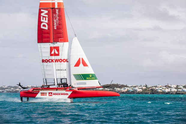Denmark SailGP Team presented by ROCKWOOL becomes the first team to hit the water ahead of the SailGP Season 2 opener.