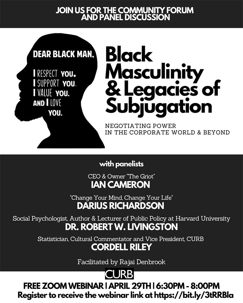 Black Masculinity Webinar Bermuda April 25 2021