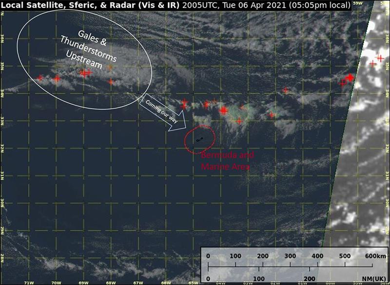 Gale Warning Bermuda April 6 2021