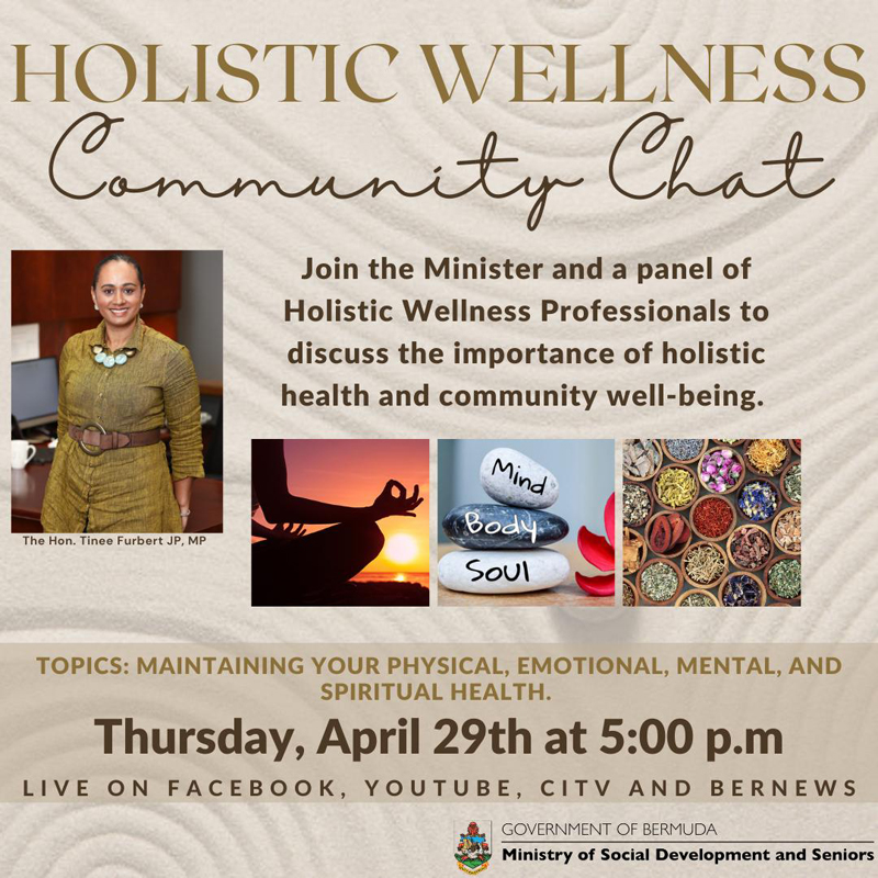 Holistic Wellness Community Chat Bermuda April 2021