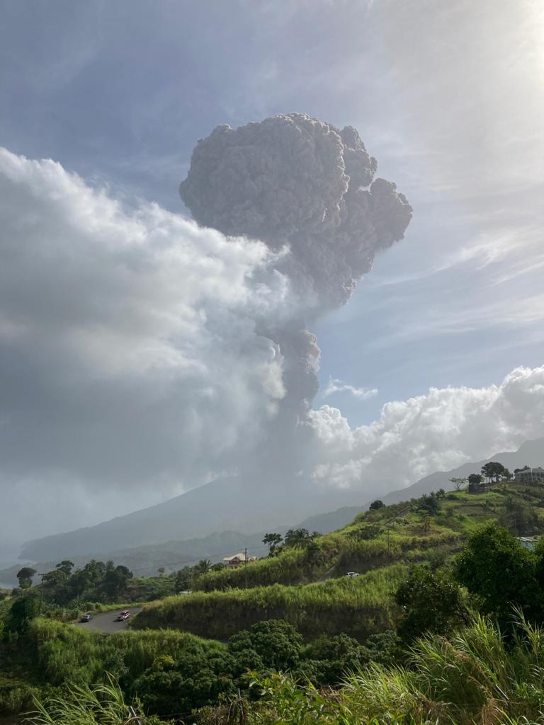 La Soufrière volcano in St. Vincent April 2021