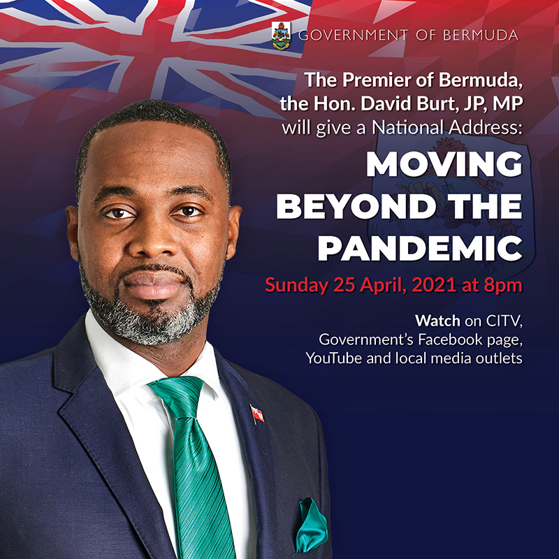 Premier National Address Bermuda April 24 2021