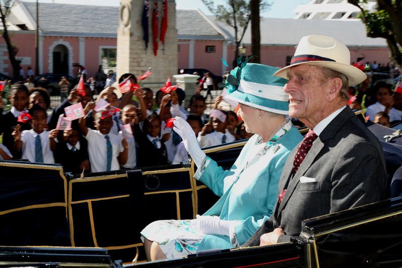 Royal Visit 2009 Arrival Hamilton Bermuda (1)