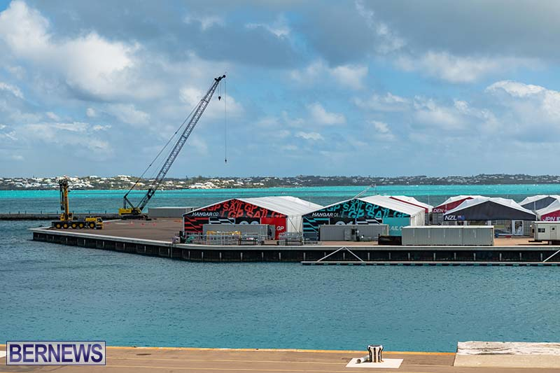 SailGP Area Set Up In Dockyard Bermuda April 2021 5