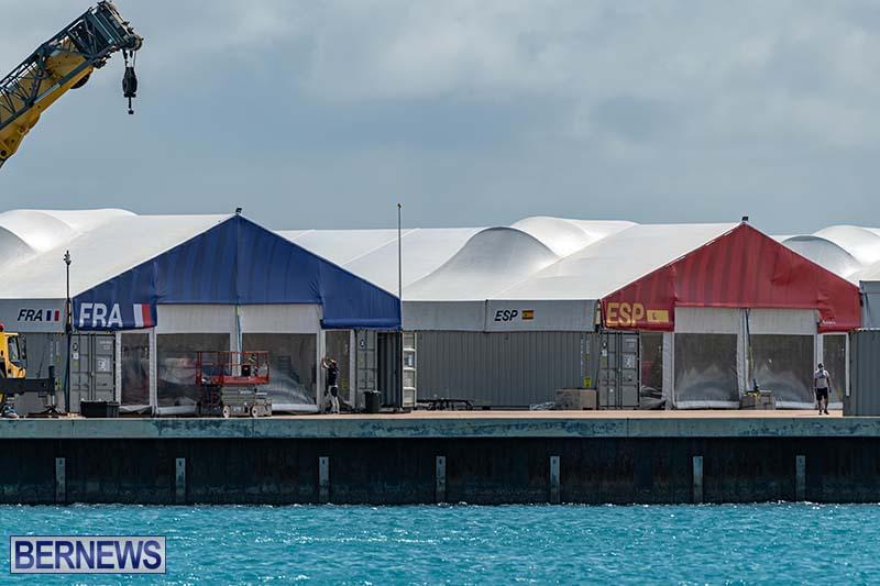 SailGP Area Set Up In Dockyard Bermuda April 2021 7