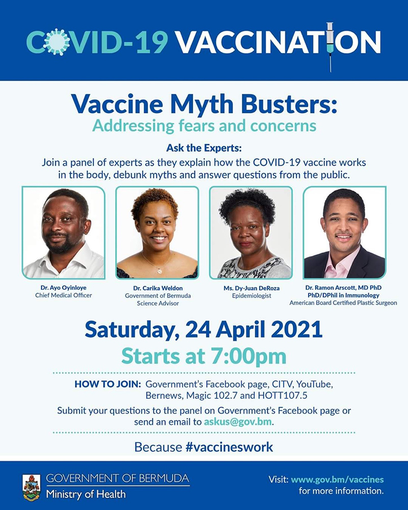 Vaccine Myth Busters Bermuda April 2021