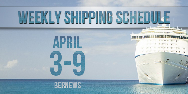 Weekly Shipping Schedule TC April 3 - 9 2021