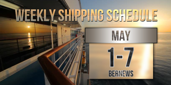 Weekly Shipping Schedule TC May 1 - 7 2021