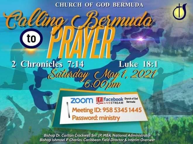 Calling Bermuda to prayer Bermuda May 1 2021