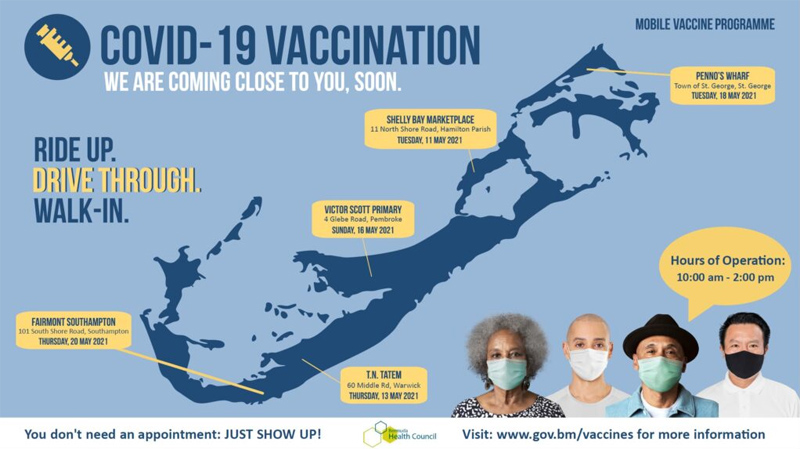 Close to Home Mobile Vaccine Programme Bermuda May 2021