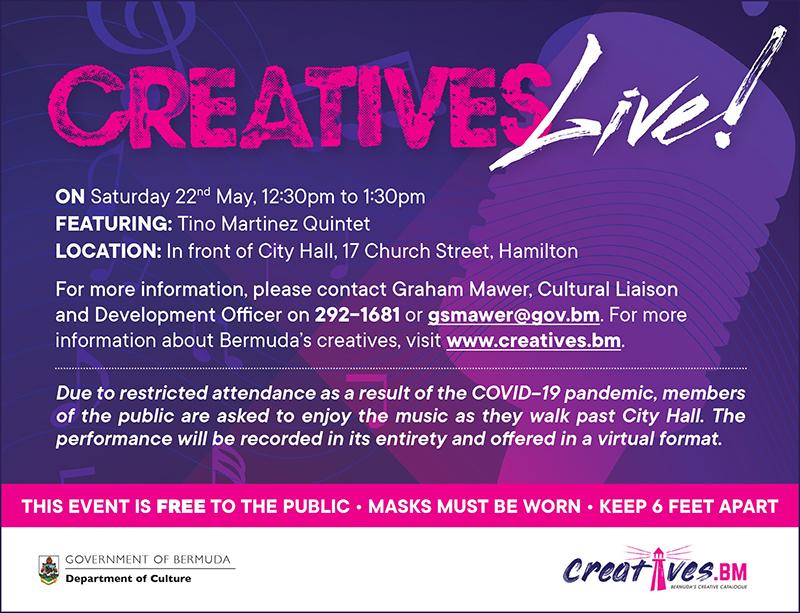Creatives Live Tino Martinez Quintet Bermuda May 2021
