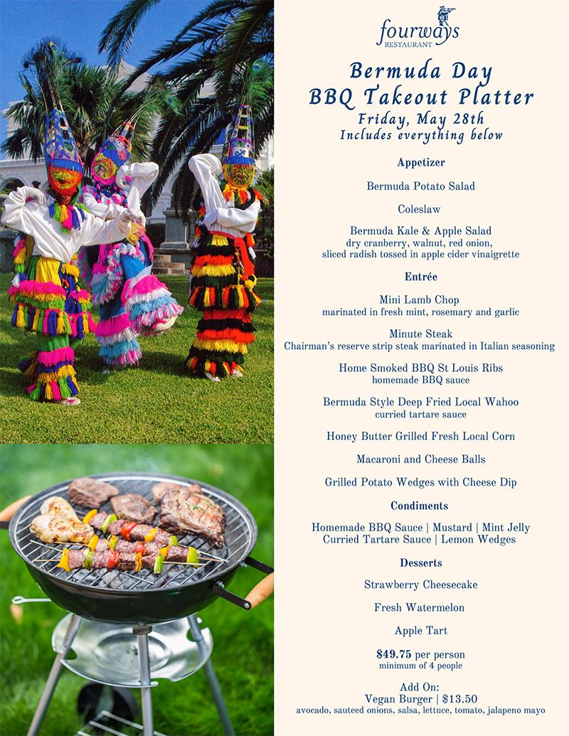 FWs Bermuda Day BBQ Takeout Platter
