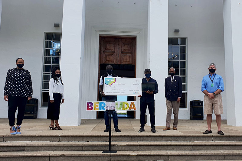 Keeon Minors Wins Marquee Design Contest Bermuda May 2021 2