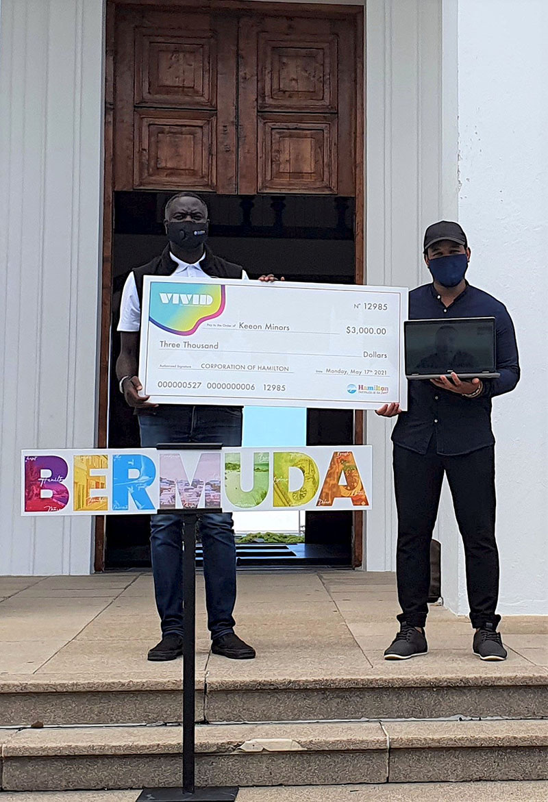 Keeon Minors Wins Marquee Design Contest Bermuda May 2021 3