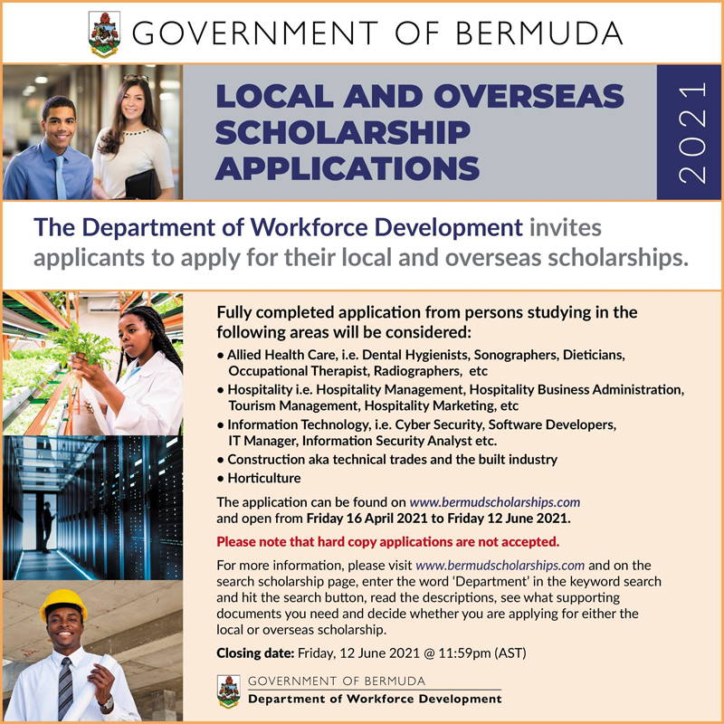 Local and Overseas Scholarships Application Bermuda May 2021