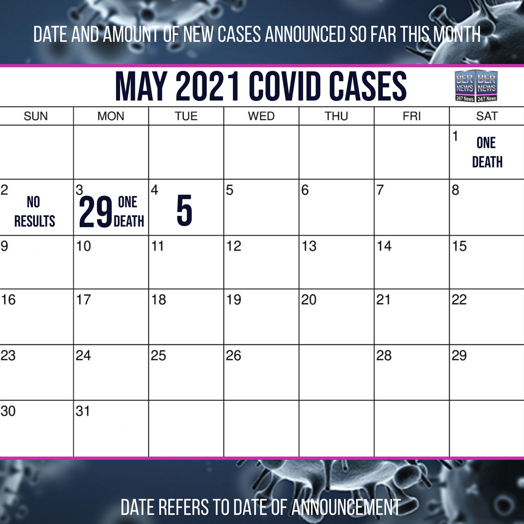 May 4 2021 Covid cases calendar Bermuda by Bernews