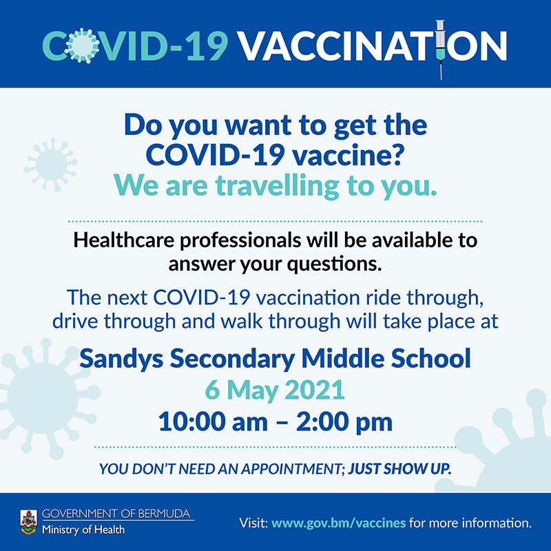 Mobile Vaccination Centre Bermuda May 2021