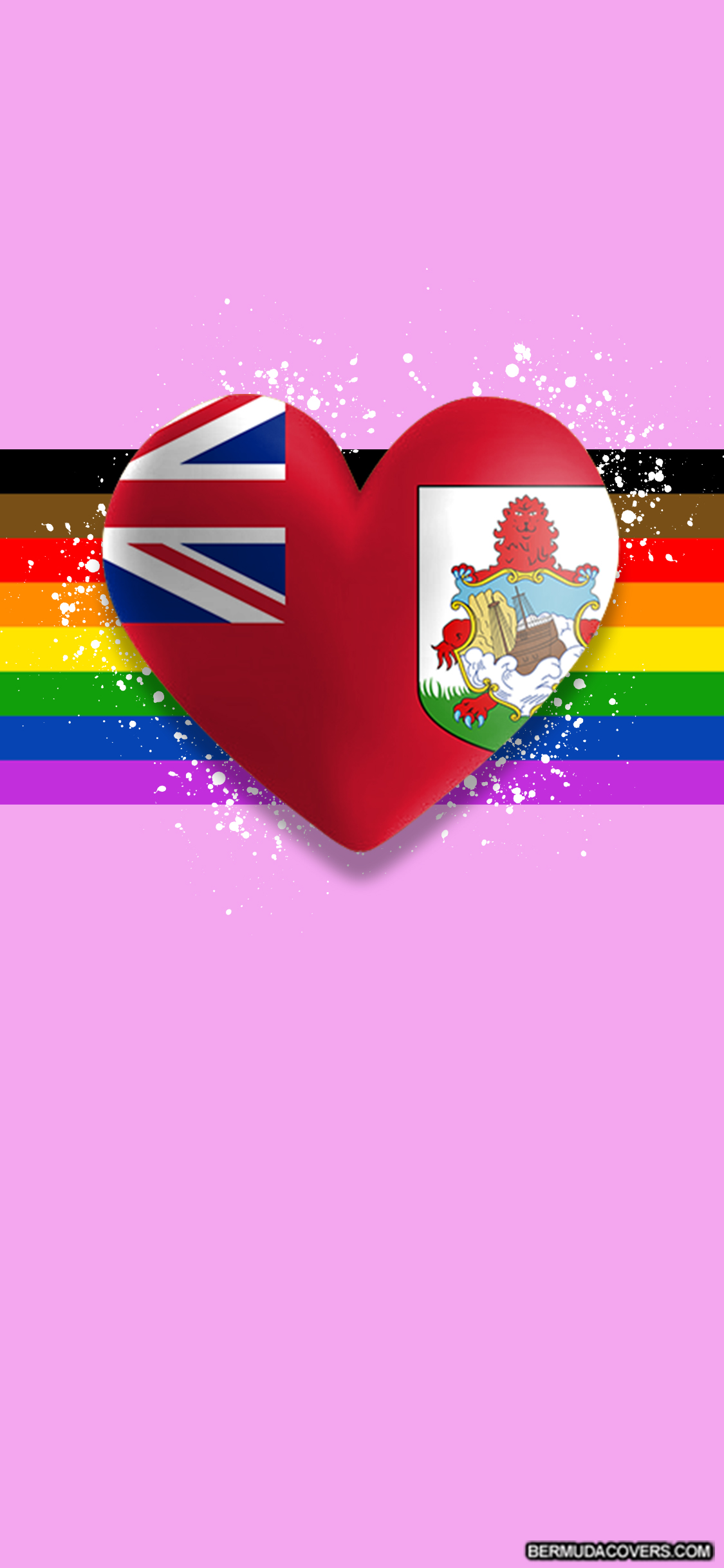 Phone Wallpaper Wednesday Phone Wallpaper LGBTQ Bermuda Pride Parade  Heart