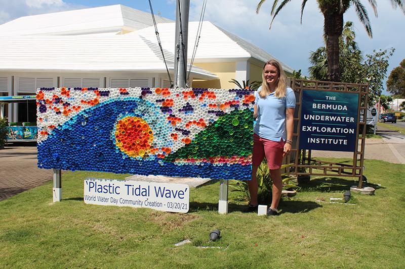 Plastic Tidal Wave Art BUEI Bermuda May 2021