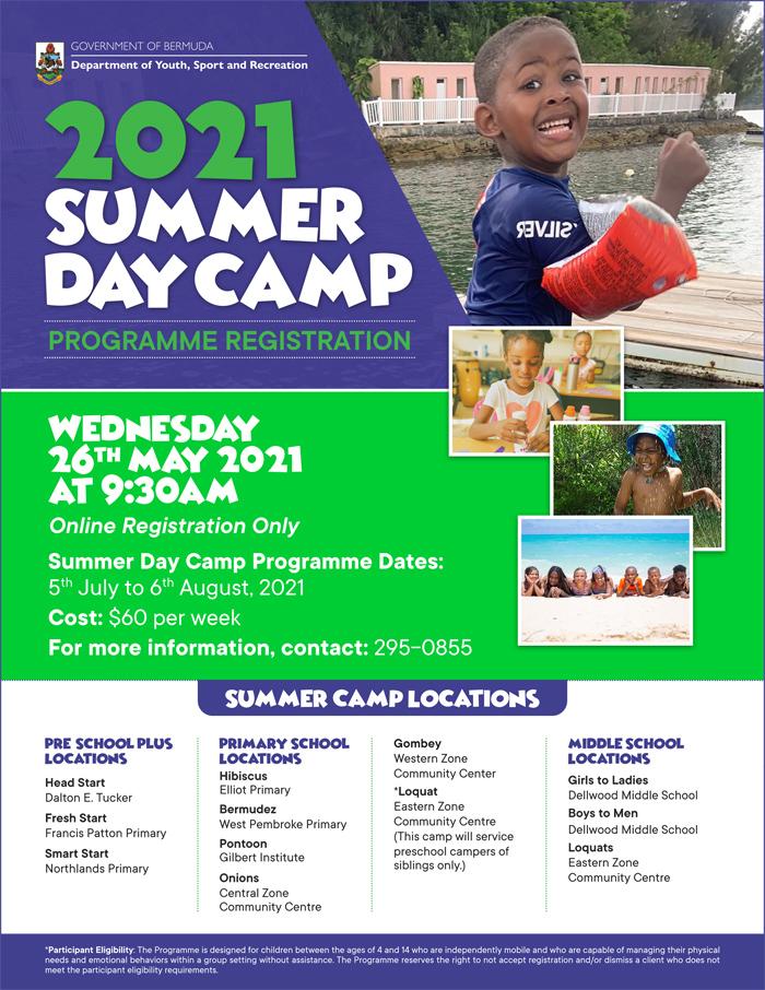 Summer Day Camp Bermuda May 2021