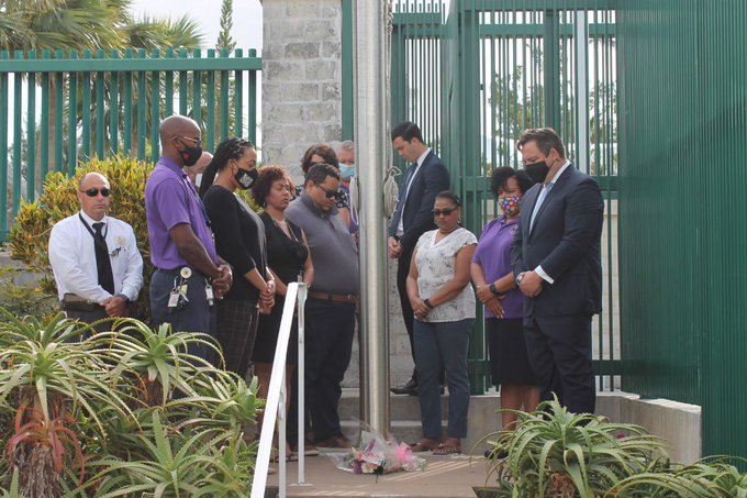 U.S. Consulate Reflects Death Of George Floyd Bermuda May 2021