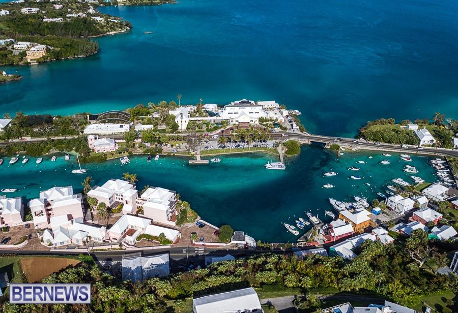 232 - A fabulous aerial view of the Bermuda Aquarium Muzeum and Zoo