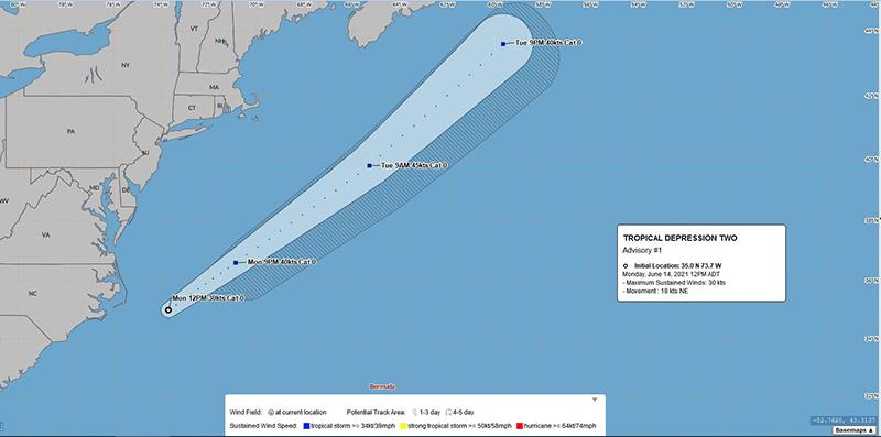 BWS Tropical Depression Two Bermuda June 2021 1
