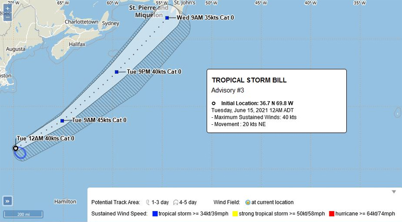 BWS Tropical Storm Bill June 15 2021