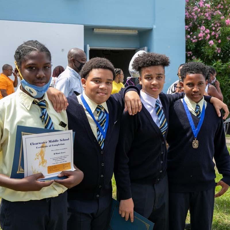 Clearwater Middle School Graduates Bermuda June 2021 1
