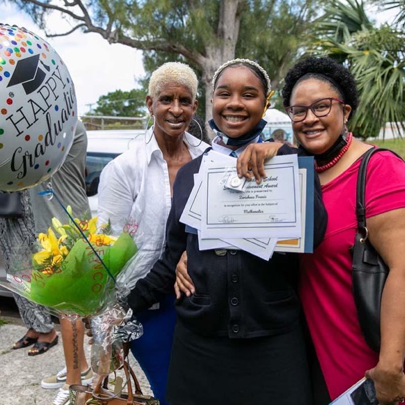 Clearwater Middle School Graduates Bermuda June 2021 2