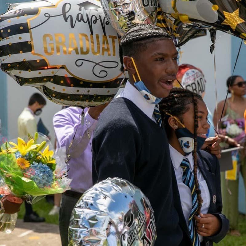 Clearwater Middle School Graduates Bermuda June 2021 6