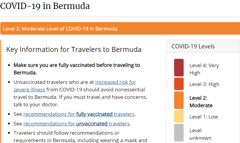 Covid-19 in Bermuda June 8 2021