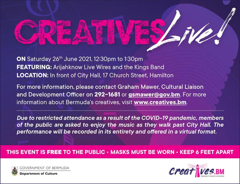 Creatives Live Arijahknow Live Wires Bermuda June 2021