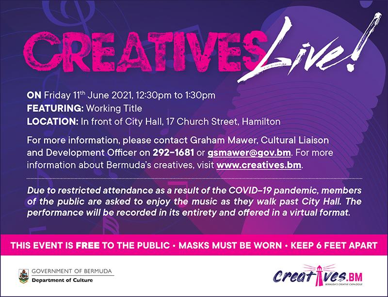 Creatives Live Working Title Bermuda June 2021