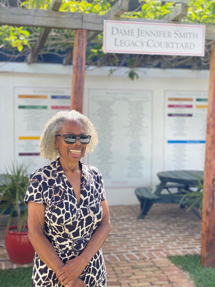 Dame Jennifer Smith Legacy Courtyard Bermuda June 2021