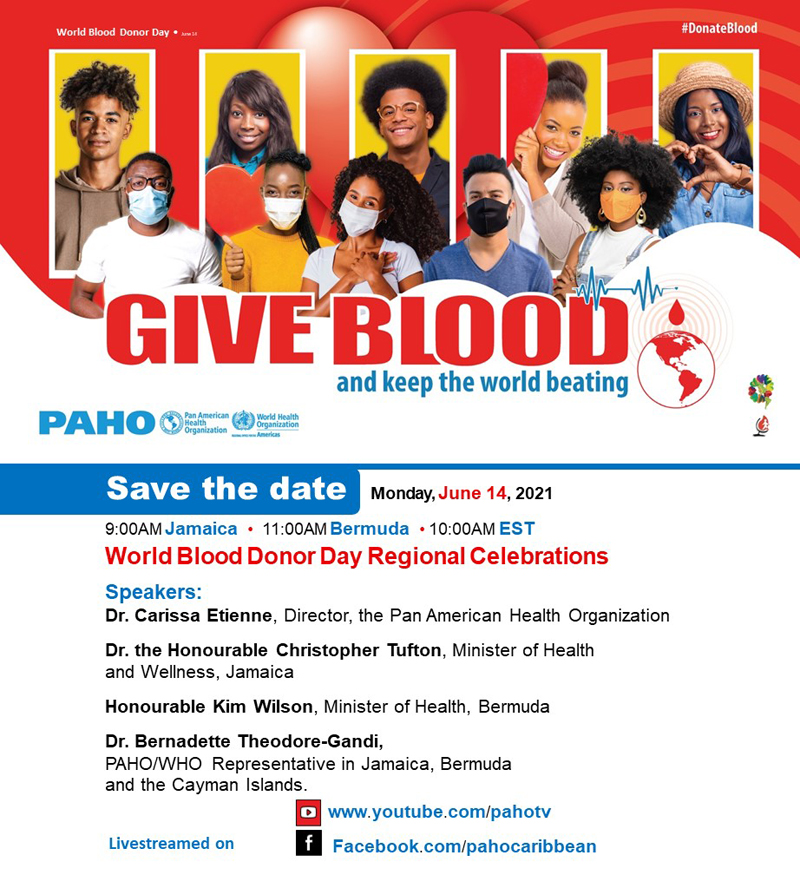Give blood and keep the world beating June 2021