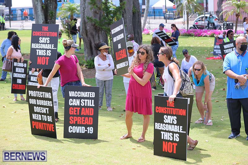 June 2021 Bermuda Protest at Cabinet  (2)
