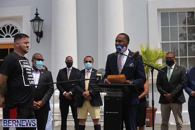 June 2021 Bermuda Protest at Cabinet  (9)