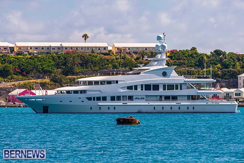 Lucky Lady Super Yacht Bermuda June 2021 1
