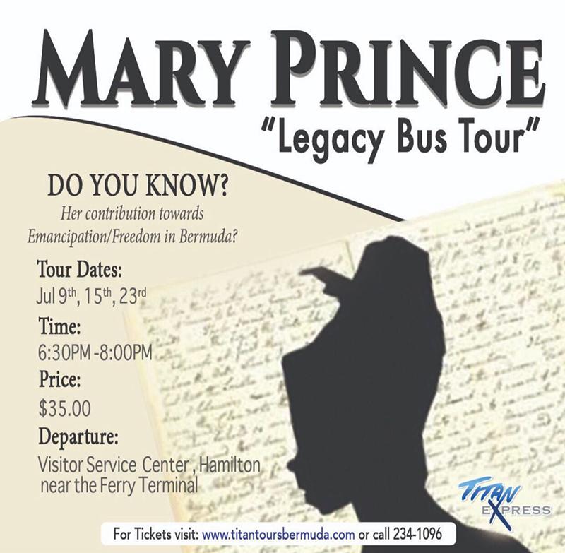 Mary Prince Tour Bermuda June 11 2021