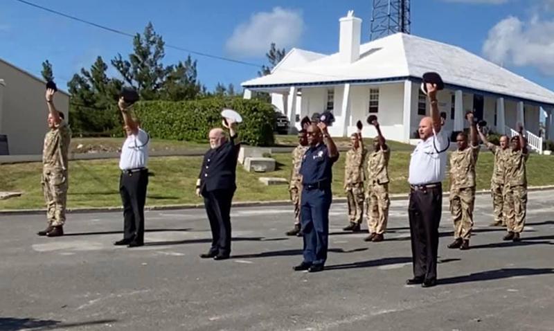 RBR, BPS, Customs Dept & BFRS Paid Tribute Bermuda June 2021 (2)