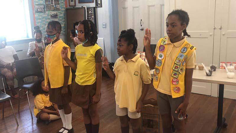 Rotary Youth & Bermuda Girlguides June 2021 1