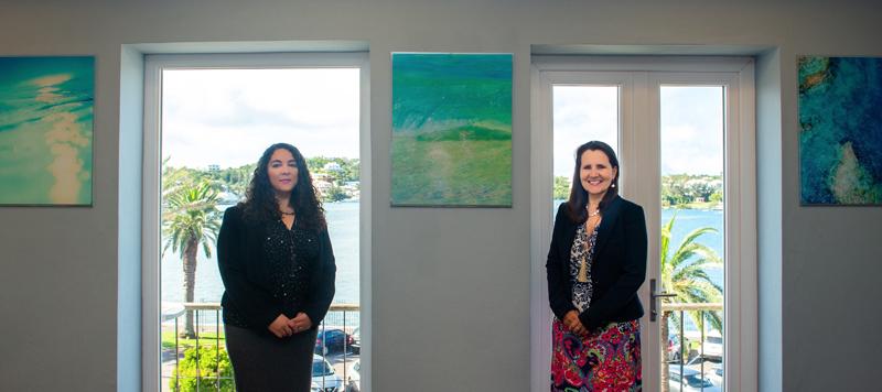 Stephanie Sanderson & Sharon Beesley Bermuda June 2021