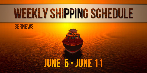 Weekly Shipping Schedule TC 06 cruise June 5 - 11 2021