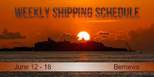 Weekly Shipping Schedule TC June 12 - 18 2021