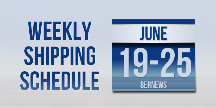 Weekly Shipping Schedule TC June 19 - 25 2021